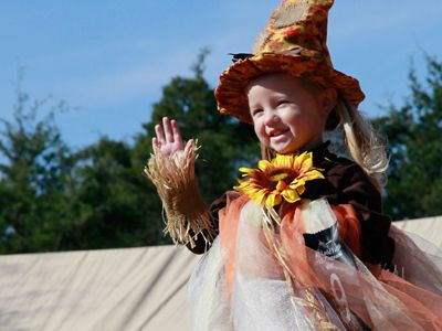 Pumpkin Princess and Corn Maze King - Fall Fun Costume Pageant for kids.